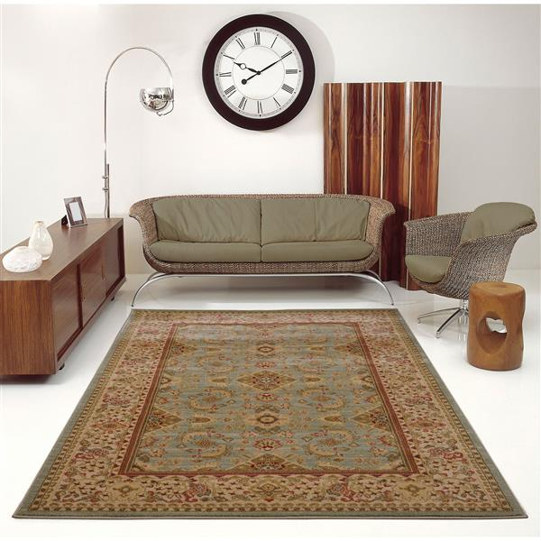 La Dole Rugs® Traditionnal Rug - 6.4' x 9.4' - Polypropylene - Green/Cream