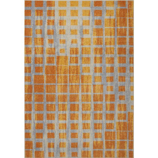 La Dole Rugs®  Geometric Area Rug - 3.9' x 5.6' - Polypropylene - Yellow