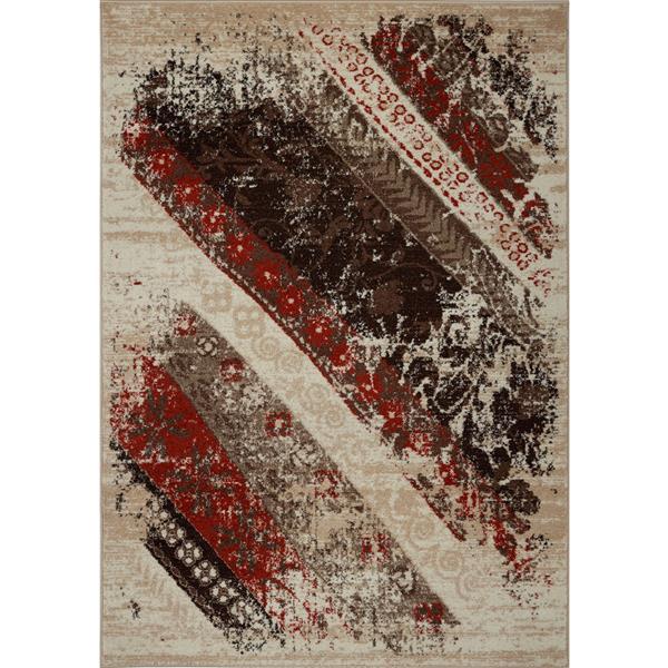 La Dole Rugs®  Abstract Rug - 7.8' x 10.4' - Polypropylene - Caramel/Orange