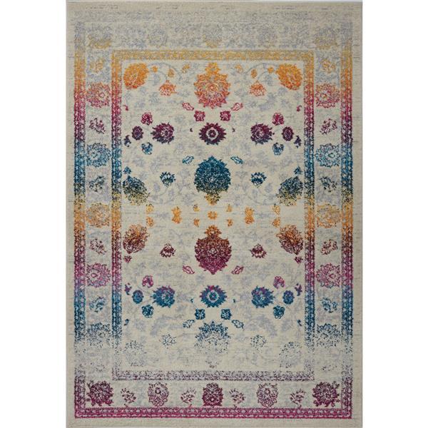 La Dole Rugs®  Floral Area Rug - 2' x 3.3' - Polypropylene - Multicolour