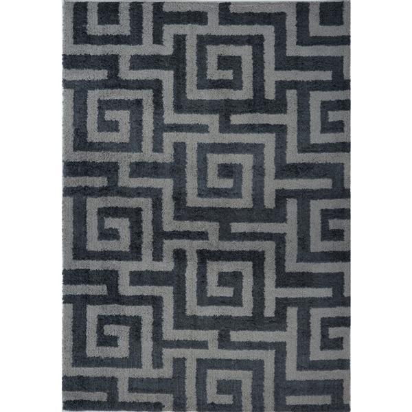 La Dole Rugs®  Calgary Abstract Area Rug - 6.4' x 9.4' - Microfibre - Gray