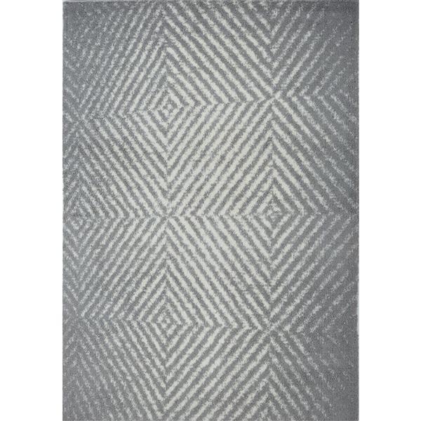La Dole Rugs® Whistler Abstract Rug - 7.8' x 10.4' - Microfibre - Gray