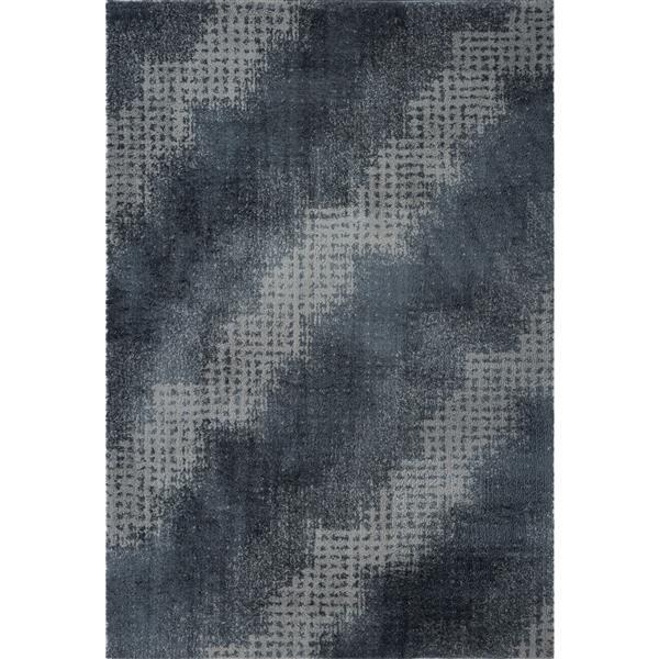 La Dole Rugs®  Coquitlam Abstract Rug - 7.8' x 10.4' - Microfibre - Gray