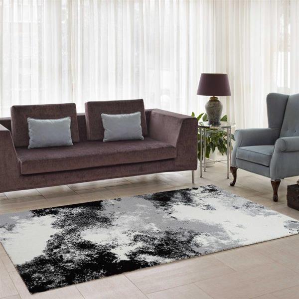 La Dole Rugs®  Abstract Area Rug - 3.9' x 5.6' - Microfibre - Multicolour