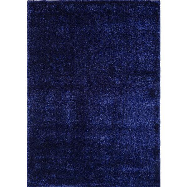 Tapis Candy, 6,4' x 9,4', polypropylène, bleu marin