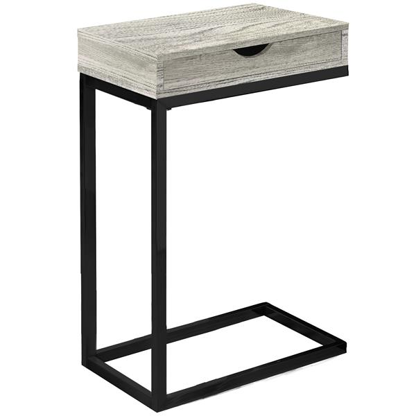 Monarch Accent Table with Drawer - Grey Reclaimed Wood /Black