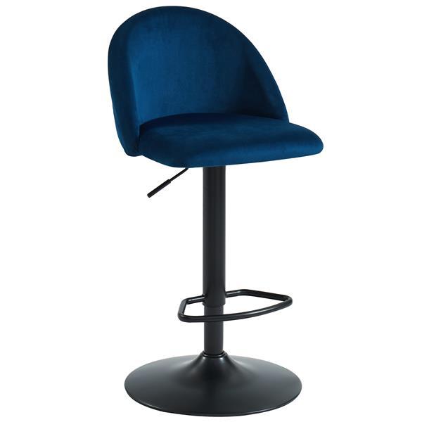 !nspire Adjustable Height Velvet Stool - Blue