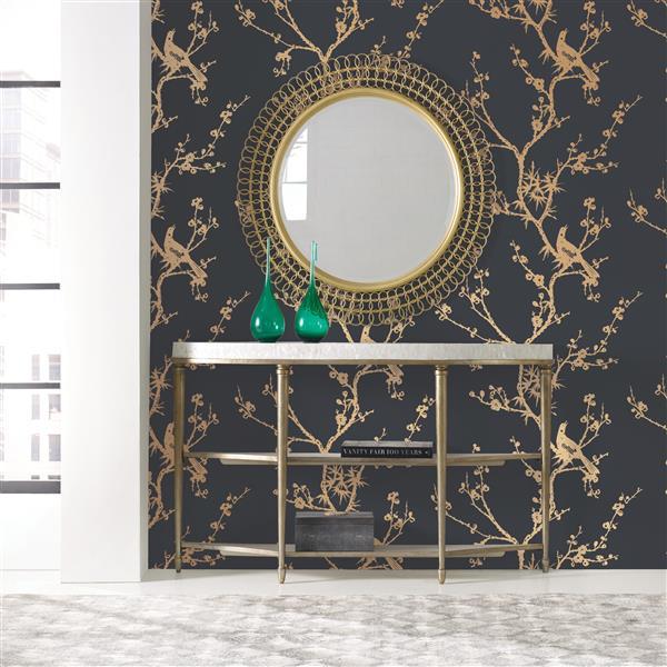 wallpaper black gold 60 sq ft