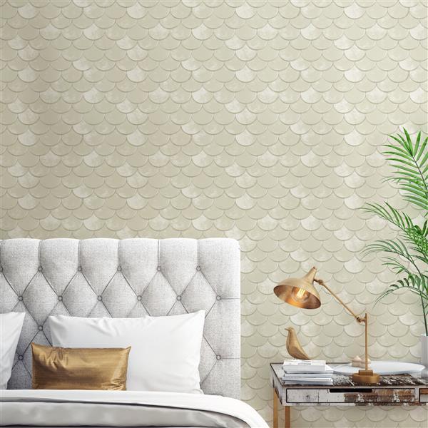 Tempaper Brass Belly Wallpaper - Off-White - 56 sq. ft.