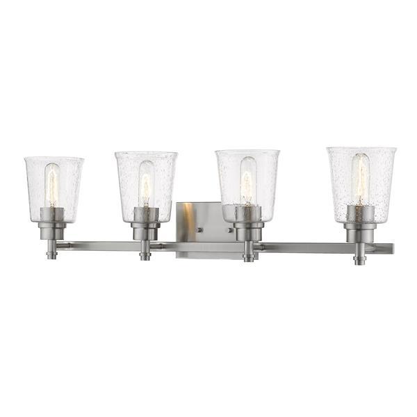 Z-Lite Bohin Contemporary 4-Light Vanity Light - Nickel