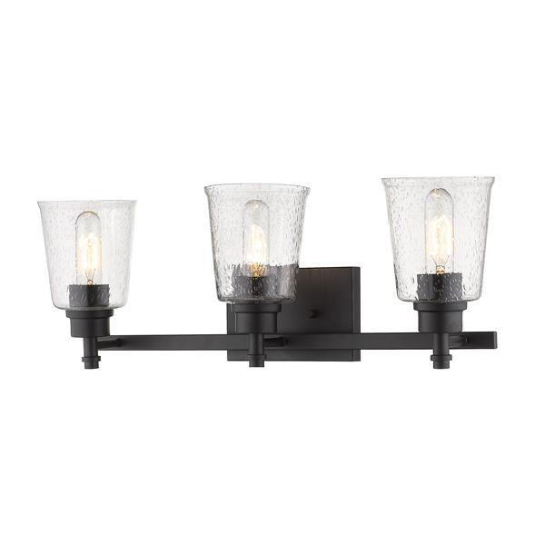 Z-Lite Bohin Contemporary 3-Light Vanity Light - Black