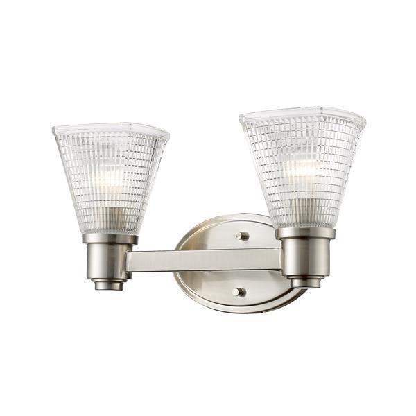 Z-Lite Intrepid Contemporary 2-Light Vanity Light - Bronze