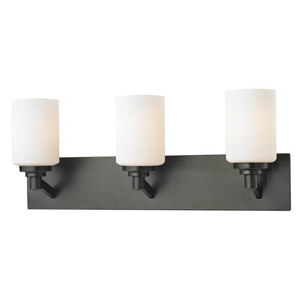 Z-Lite Montego Transitional 3-Light Vanity Light - Bronze