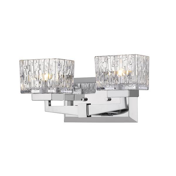 Z-Lite Rubicon Contemporary 2-Light Vanity Light - Chrome