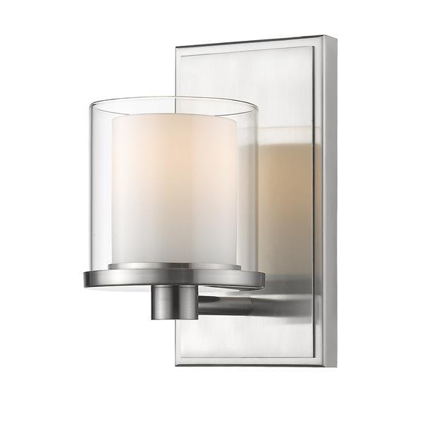 Z-Lite Schema Contemporary 1-Light LED Vanity Light - Nickel