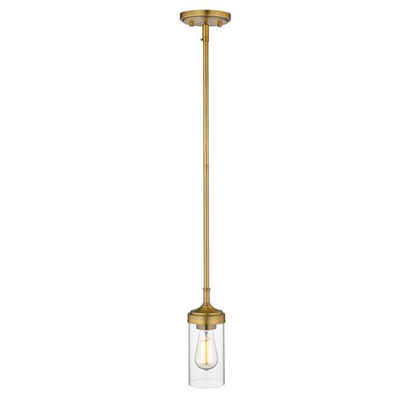 Z-Lite Calliope 1-Light Mini Pendant Light - Brass