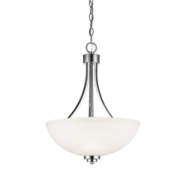 Luminaire suspendue à 3 lumières «Ashton», chrome
