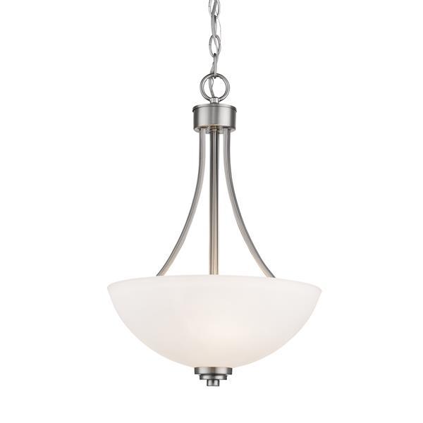 Z-Lite Ashton 3-Light Pendant Light - Nickel