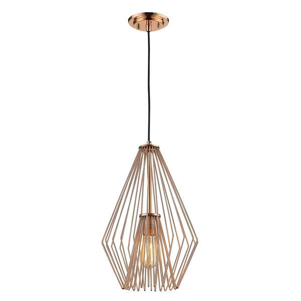 Z-Lite Quintus 1-Light Mini Pendant Light - Copper