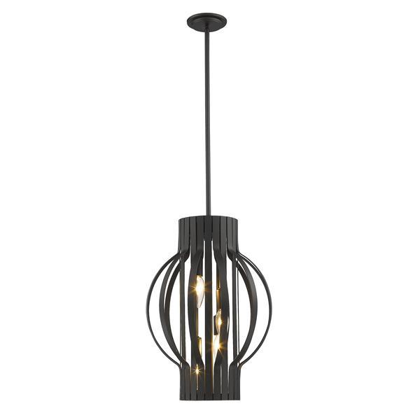 Luminaire suspendue à 4 lumières «Moundou», bronze