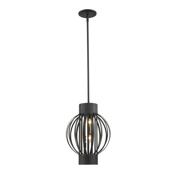 Luminaire suspendue à 3 lumières «Moundou», nickel