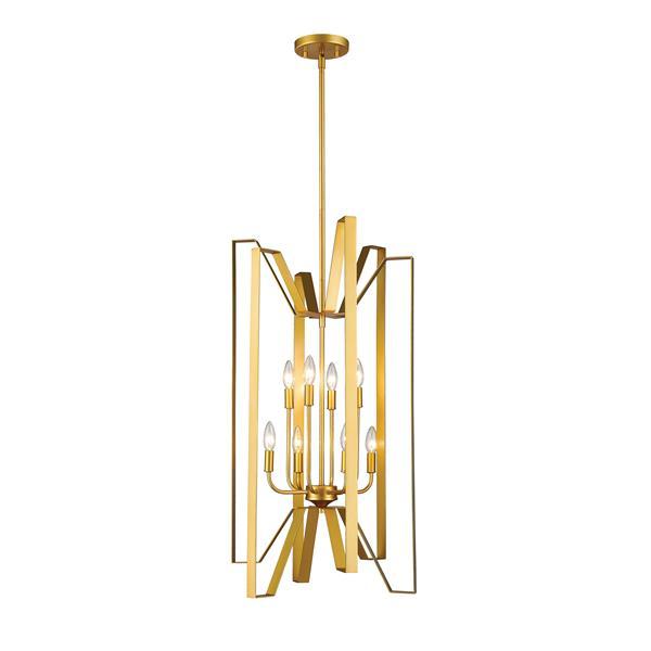 Z-Lite Marsala 8-Light Pendant Light - Gold