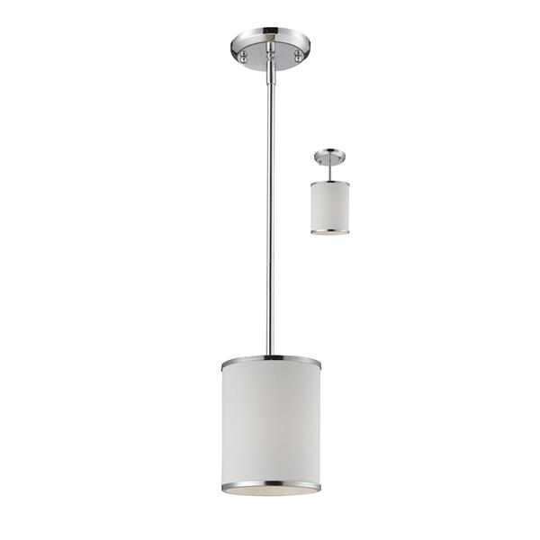 Z-Lite Cameo 1-Light Convertible Pendant Light - Chrome