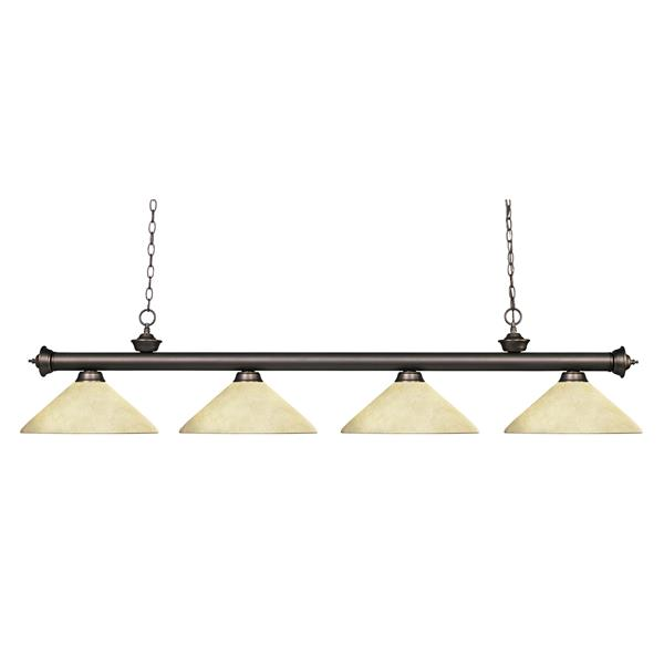 Z-Lite Riviera Traditional 4-Light Billiard Light - Bronze