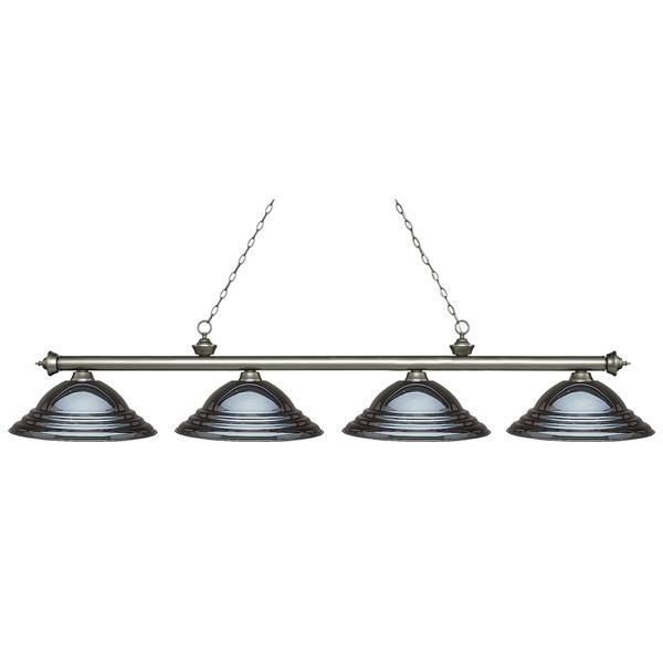 Luminaire traditionnel à 4 lumières «Riviera», noir