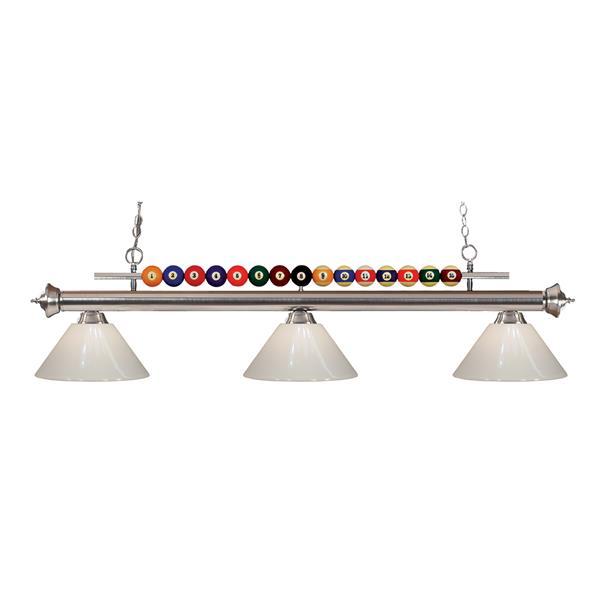 Z-Lite Shark 3-Light Kitchen Island/Billiard Light - Black