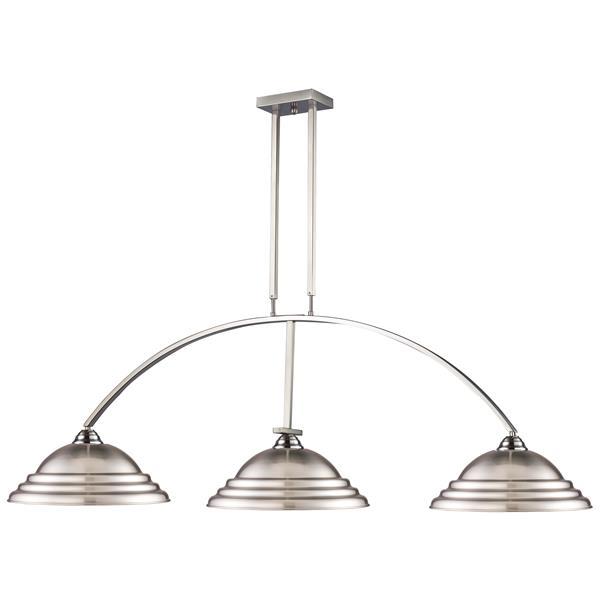 Luminaire traditionnel à 3 lumières «Martini», nickel