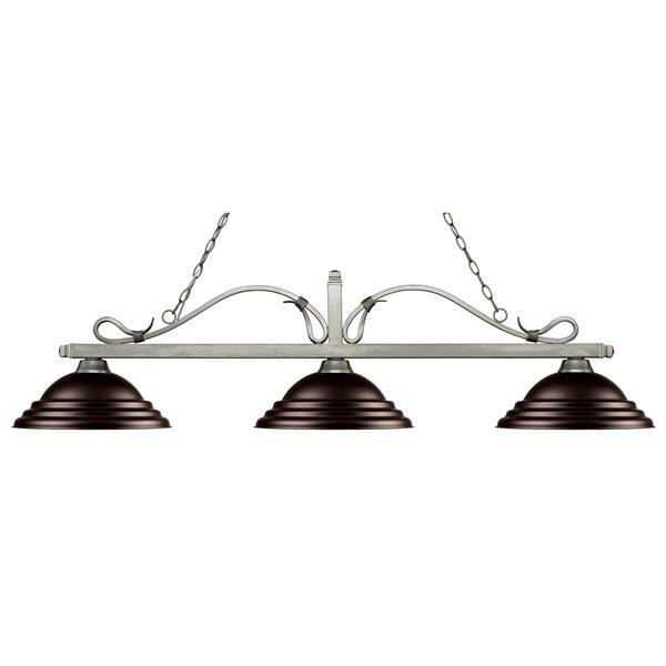Luminaire nautique à 3 lumières «Melrose», bronze
