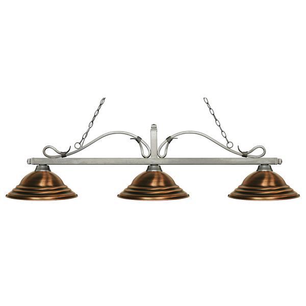 Z-Lite Melrose Nautical 3-Light Billiard Light - Bronze