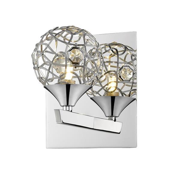 Z-Lite Nabul 1-Light Wall Sconce - Chrome