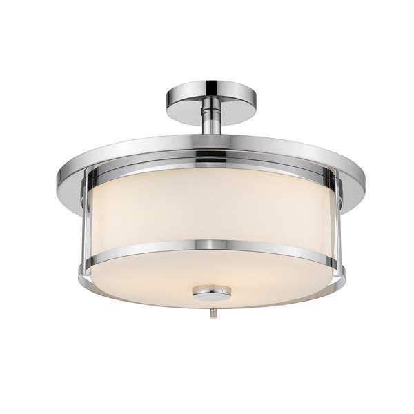 Z-Lite Savannah 3-Light Semi Flush Mount - Chrome