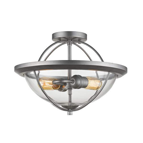 Z-Lite Persis 2-Light Semi Flush Mount - Silver