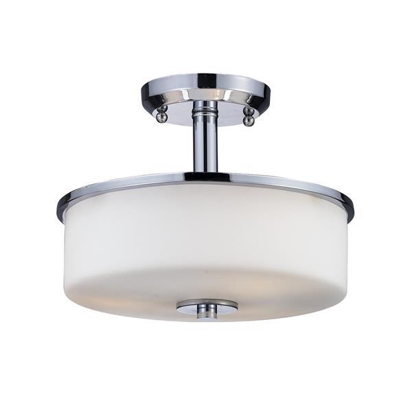 Z-Lite Ibis 3-Light Semi Flush Mount - Chrome