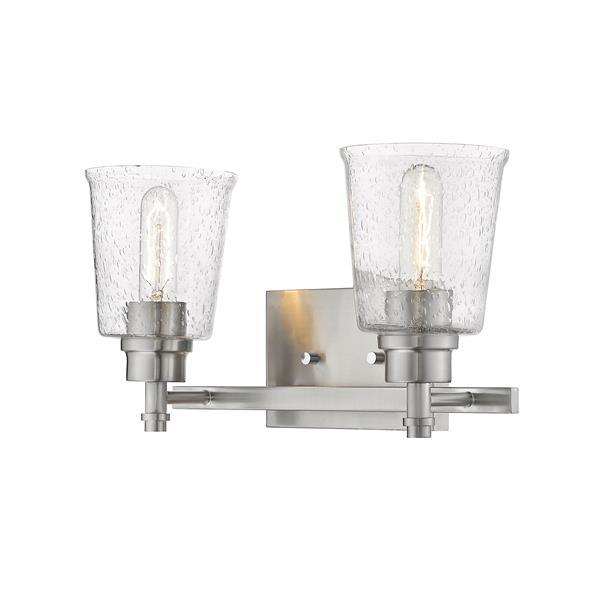 Z-Lite Bohin 2-Light Vanity Light - 16-in - Metal - Nickel