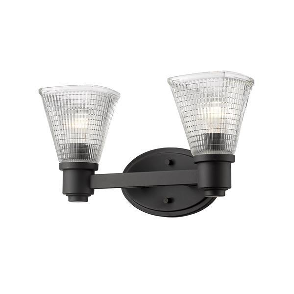 Z-Lite Intrepid 2-Light Vanity Light - 15.75-in - Metal - Bronze