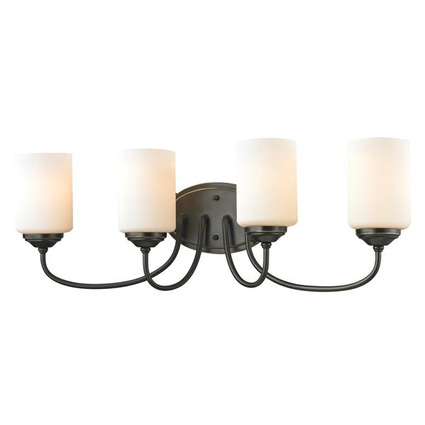 Z-Lite Cardinal 4-Light Vanity Light - 27-in - Metal - Bronze