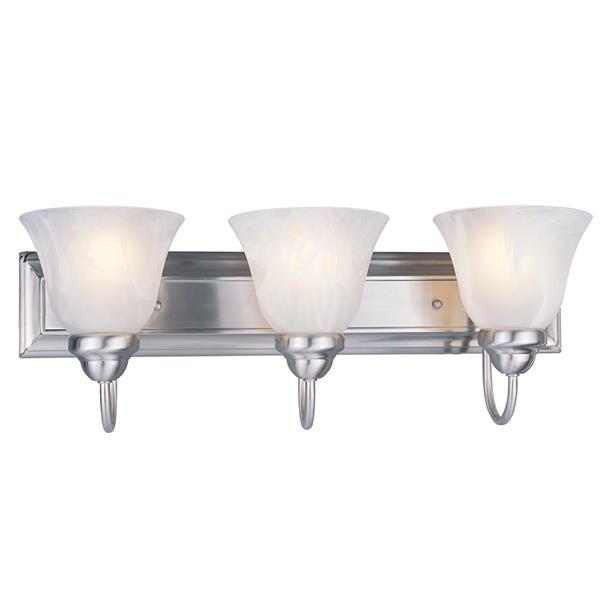 Z-Lite Lexington 3-Light Vanity Light - 24-in - Metal - Nickel