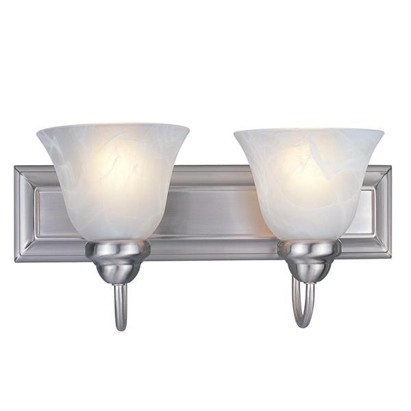 Z-Lite Lexington 2-Light Vanity Light - 18-in - Metal - Nickel