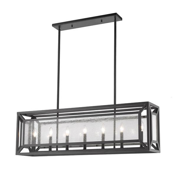 Z-Lite Braum 7-Light Pendant - 9.1-in - Glass - Bronze