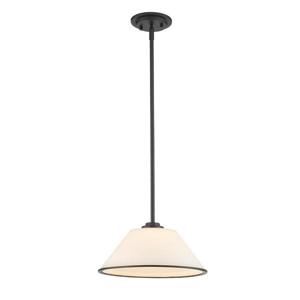 Z-Lite Jarra 1-Light Pendant - 13-in - Glass - Bronze