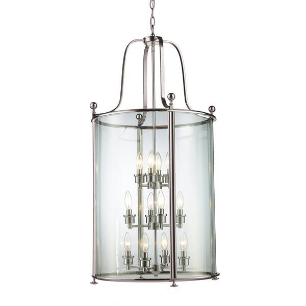 Z-Lite Wyndham 12-Light Pendant - 21.5-in - Glass - Clear