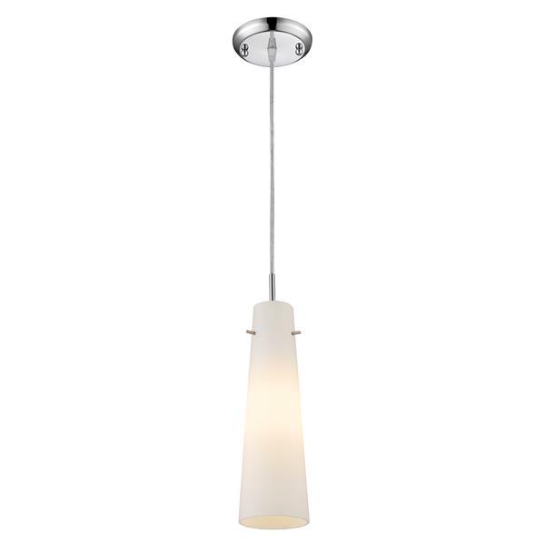 Z-Lite Monte 1-Light Pendant - 4-in - Glass - Chrome
