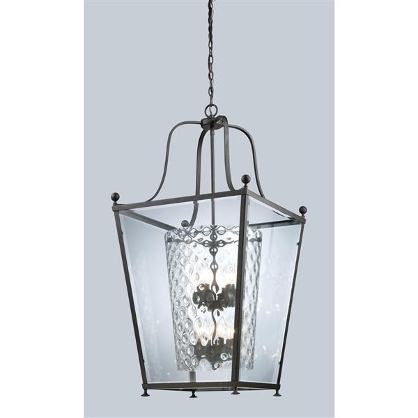 Z-Lite Ashbury 8-Light Pendant - 21-in - Glass - Bronze