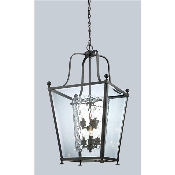 Z-Lite Ashbury 6-Light Pendant - 18.5-in - Glass - Bronze
