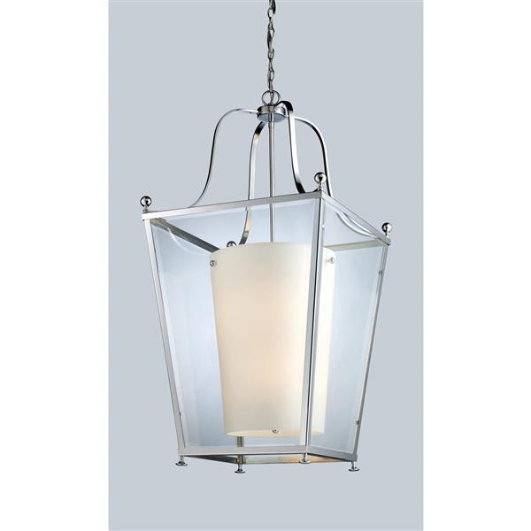 Z-Lite Ashbury 6-Light Pendant - 18.5-in - Glass - Chrome