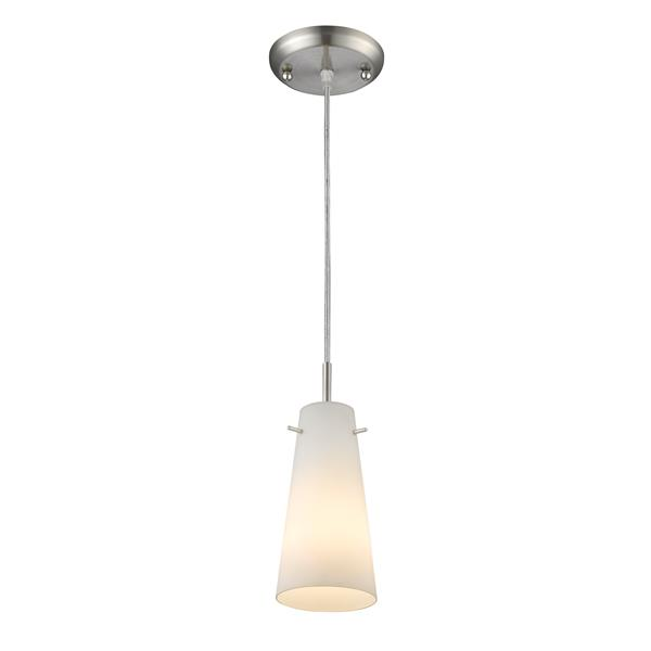 Z-Lite Monte 1-Light Pendant - 4-in - Glass - Nickel